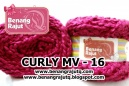 benang rajut limited CURLY MV - 16 MERAH REGAL