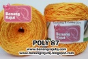 benang rajut POLY 87 - MEDIUM ORANGE (NEW!!!)