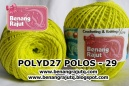 POLY D27 POLOS - 29 (KUNING STABILO)