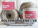 POLYPROPYLENE - 19 - LIGHT SILVER