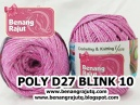 benang rajut medium POLY D27 BLINK - 10 (SOFT PINK + SILVER)