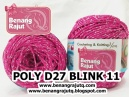 benang rajut medium POLY D27 BLINK - 11 (HOT PINK + SILVER)