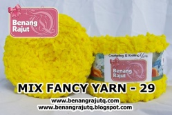 benang rajut limited MIX FANCY YARN 29 - KUNING