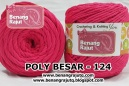 POLYESTER BESAR - 124 (HOT PINK)