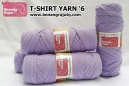 T-SHIRT YARN '6 (UNGU MUDA)
