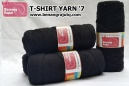 T-SHIRT YARN '7 (HITAM)