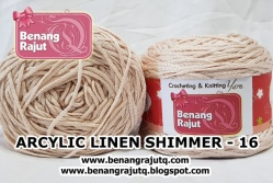 benang rajut wearable ARCYLIC LINEN SHIMMER - 16 (NEW)