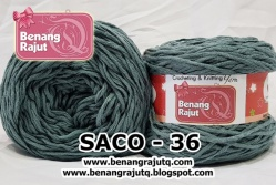 benang rajut smooth SACO - 36 (!! NEW !!)