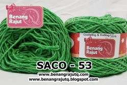 benang rajut smooth SACO - 53 (!! NEW !!)