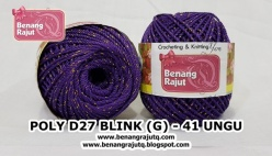 benang rajut medium POLY D27 BLINK (G) - 41 UNGU