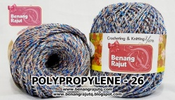 benang rajut medium POLYPROPYLENE - 26