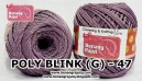 benang rajut medium POLY D27 BLINK (G) - 47 (UNGU ABU2)