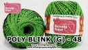 benang rajut medium POLY D27 BLINK (G) - 48 (HIJAU)