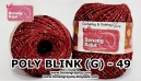 benang rajut medium POLY D27 BLINK (G) - 49 (MAROON)