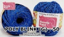benang rajut medium POLY D27 BLINK (G) - 50 (BIRU)