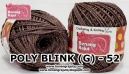 benang rajut medium POLY D27 BLINK (G) - 52 (COKELAT)