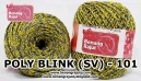 benang rajut medium POLY D27 BLINK (SV) - 101 (TWIST KUNING ABU)