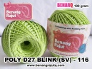 benang rajut medium POLY D27 BLINK (SV) - 116