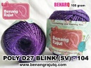 benang rajut medium POLY D27 BLINK (SV) - 104 (UNGU)