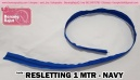 RESLETTING 1 METER - NAVY