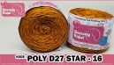 benang rajut POLY D27 STAR - 16 (GOLD)