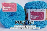 benang rajut POLY 121 - TWIST - Blue n White