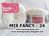 benang rajut limited MIX FANCY YARN - 24 Putih