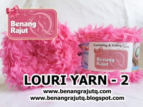 benang rajut limited LOURI YARN - 2 (HOT PINK)