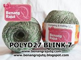 benang rajut medium POLYD27 BLINK 7 (GREEN - SILVER)