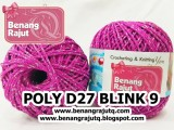 benang rajut medium POLY D27 BLINK - 9 (FUCHIA + SILVER)