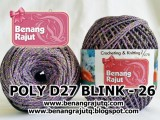 benang rajut medium POLY D27 BLINK - 26 (UNGU + ABU2 TUA+ GOLD)