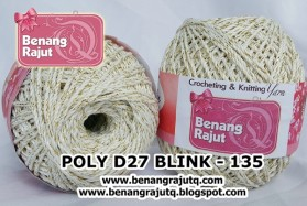 benang rajut medium POLY D27 BLINK - 135