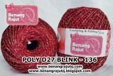 benang rajut medium POLY D27 BLINK - 136