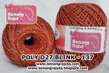 benang rajut medium POLY D27 BLINK - 137