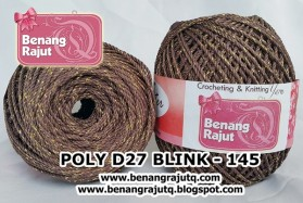 benang rajut medium POLY D27 BLINK - 145