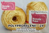 benang rajut medium POLYPROPYLENE 24 - SOFT GOLD
