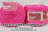benang rajut wearable ARCYLIC LINEN SHIMMER - 22 (NEW)