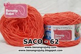 benang rajut smooth SACO - 62 (!! NEW !!)
