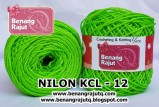 benang rajut - NILON KCL - 12 (BRIGHT GREEN)