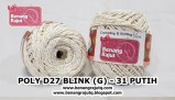 benang rajut medium POLY D27 BLINK (G) - 31 PUTIH