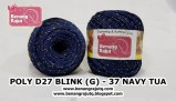 benang rajut medium POLY D27 BLINK (G) - 37 NAVY TUA