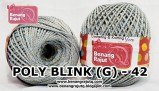 benang rajut medium POLY D27 BLINK (G) - 42 (ABU-ABU)