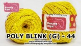 benang rajut medium POLY D27 BLINK (G) - 44 (KUNING)