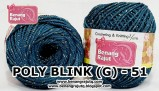 benang rajut medium POLY D27 BLINK (G) - 51 (BIRU TOSCA)