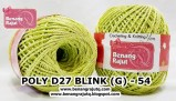 benang rajut medium POLY D27 BLINK (G) - 54