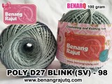 benang rajut medium POLY D27 BLINK (SV) - 98